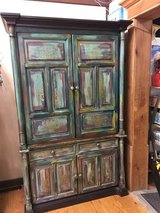 Boho Painted Entertainment Center in Fort Polk, Louisiana