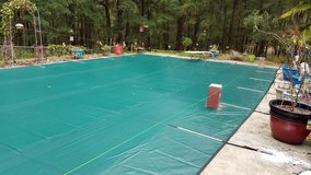 40x20 Pool Cover with Anchors in Fort Rucker, Alabama