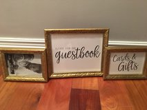 Gold Picture Frames—1-8x10, 2-5x7 in St. Charles, Illinois