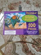 Brand New Unopened Box - Dinosaur Glow In The Dark 100 Piece Puzzle in Yorkville, Illinois