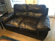 Leather couches, brown in Stuttgart, GE
