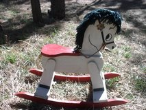 Wooden Rocking Horse in Alamogordo, New Mexico