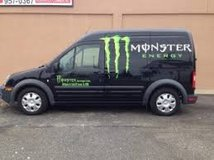 Advert on car/bike/truck for Monster Energy Drinks in Jacksonville, Florida