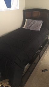 Twin bed with underbed storage drawer in Bolingbrook, Illinois
