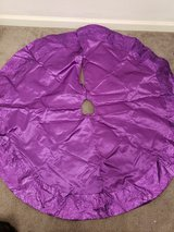 Purple Christmas Tree Skirt in Clarksville, Tennessee