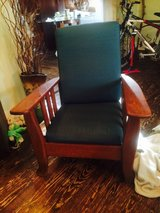 Solid Oak Mission Style Antique Morris Chair in Wilmington, North Carolina