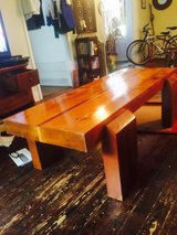 Solid Oak with Cherry Inlaid Super Heavy Duty Coffee Table in Wilmington, North Carolina