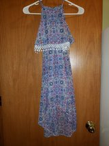 girls dress blue\multicolored sz.7 in Yorkville, Illinois