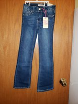 girls jeans dk.blue sz.7slim, new w/tags in Yorkville, Illinois