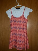 girls dress 2pc...coral/blue/why sz.6/6x in Chicago, Illinois
