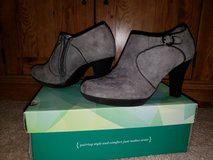 grey suede booties-womens sz.7 in Bolingbrook, Illinois