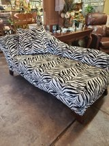 Zebra Print Fainting Couch in Spring, Texas