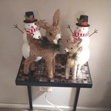 2 REINDEER AND 2 SNOWMAN DECORATIONS in Westmont, Illinois