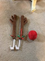Rudolph antlers and red nose for car decoration in Cleveland, Texas