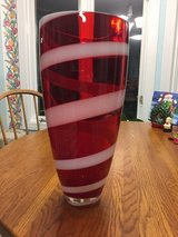 Large Red & White Vase in Fort Campbell, Kentucky