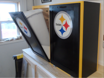 Pittsburgh Steeler tip-out cabinet for trash/recycle, laundry, dog food, etc in Quantico, Virginia