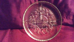 Relish Tray Cut Glass 3 Sections in Alamogordo, New Mexico