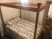 Bernhardt Designer Light Wood Oak Full Queen Set With New Mattress in Camp Pendleton, California