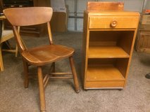 Antique Night Stand and Chair in Vacaville, California