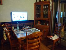 Table, 4 chairs and corner china cabinet in Naperville, Illinois