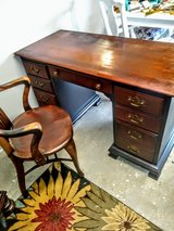 "signed antique ""Kling ""2 sided Desk & chair in Cherry Point, North Carolina"