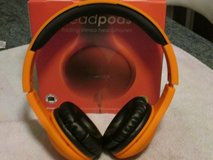 ' BoomPods ' folding stereo headphones in Lakenheath, UK
