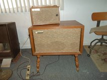 vintage radio phonograph console in 29 Palms, California