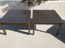 vintage solid wood end tables in 29 Palms, California