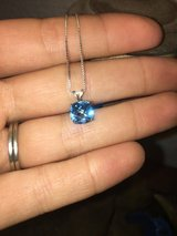 Sterling Silver Blue topaz necklace in Fairfield, California