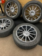 Set of 4 Rims & tires 305/45/R22 Came off a GMC Sierra 2012  universal pattern in Fort Rucker, Alabama