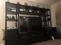 4 piece Black wood entertainment center in Quantico, Virginia