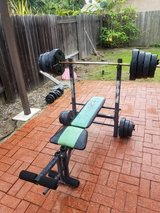 Weight bench and weights in Oceanside, California