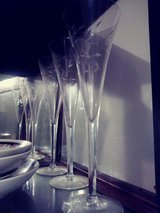 Princess house Crystal champagne glasses in Fairfield, California