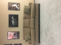 Ashley furniture couch 8 feet burgundy color in Travis AFB, California