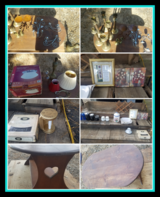 Brass Candle Holders,Dishes, Pictures Light Fixture in Fort Polk, Louisiana