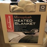 Sunbeam Microplush Heated Blanket - Queen in Pasadena, Texas