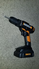 Worx Compact Drill/ Weed Whacker + 2 Batteries + Charger in Oswego, Illinois