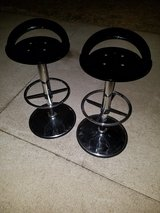 Retro / Black / 2 Piece Bar Stool Set in Fort Campbell, Kentucky