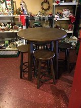 Solid Wood Pub Bar Height Table and Chairs (Space Saver) in Fort Polk, Louisiana
