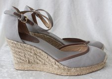 JCrew Gray Heel Wedge with Buckle Size 7 - Brand New in Camp Lejeune, North Carolina