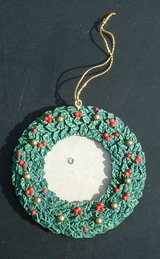 1996 Christmas ornament  memory wreath [ for when they cant be there ] stocking stuffer in Warner Robins, Georgia