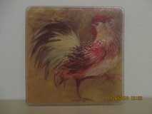 Rooster Small Tempered Glass Cutting Board in Glendale Heights, Illinois
