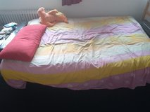 double cot bed with mattress in good condition in Stuttgart, GE