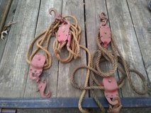2 vintage block and tackle in Fort Campbell, Kentucky