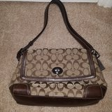 Coach Purse, Beige and Brown in Beaufort, South Carolina