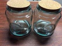 Pair of glass storage jars in Algonquin, Illinois