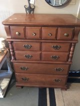 Solid wood chest of drawers 18 1/2 inches deep 32 inches wide 32 inches tall four draws in Conroe, Texas