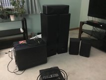 Venturi Bic V780 fronts, V65 rears, DV52C center and V1200 subwoofer in St. Charles, Illinois