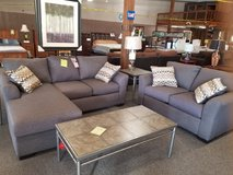 Floating Chaise Sofa w/Matching Loveseat Group in Rolla, Missouri