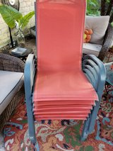 Patio sling chairs (6) in Kingwood, Texas